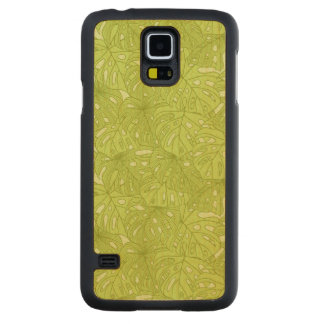 Leaves of Palm Tree Carved Maple Galaxy S5 Case