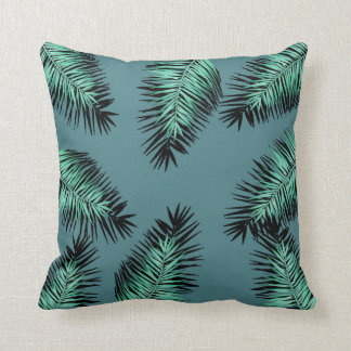 leaves of palm with green bottom cushion