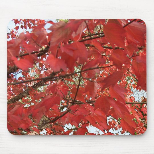 LEAVES of RED by SHARON SHARPE Mouse Mat