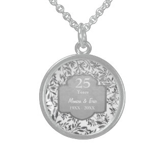 Leaves of Silver 25th Wedding Anniversary Sterling Silver Necklace