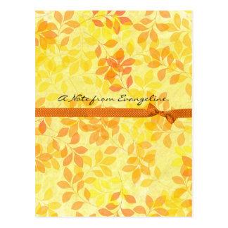 Leaves of Summer Postcard