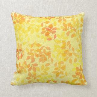 Leaves of Summer throw pillow. Cushion