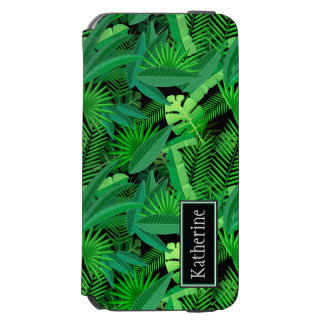 Leaves Of Tropical Palm Trees | Add Your Name Incipio Watson™ iPhone 6 Wallet Case