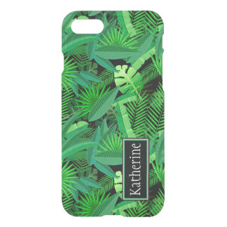 Leaves Of Tropical Palm Trees | Add Your Name iPhone 8/7 Case