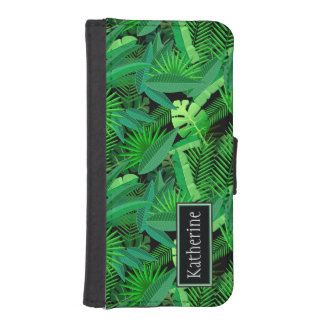 Leaves Of Tropical Palm Trees | Add Your Name iPhone SE/5/5s Wallet Case