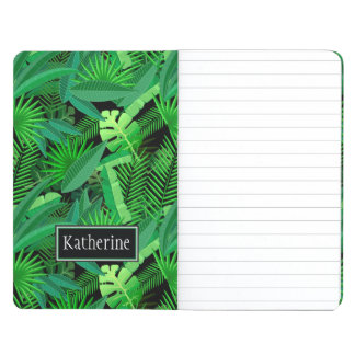 Leaves Of Tropical Palm Trees | Add Your Name Journal