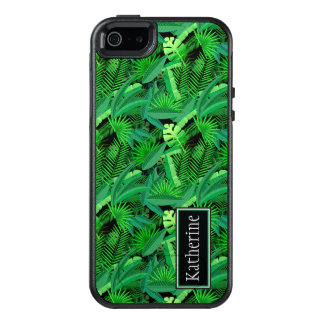 Leaves Of Tropical Palm Trees | Add Your Name OtterBox iPhone 5/5s/SE Case