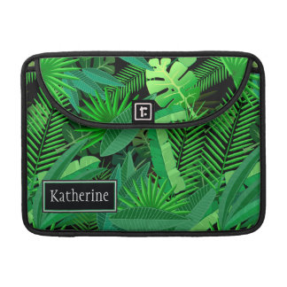 Leaves Of Tropical Palm Trees   Add Your Name Sleeve For MacBook Pro