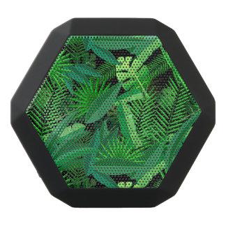 Leaves Of Tropical Palm Trees Black Bluetooth Speaker