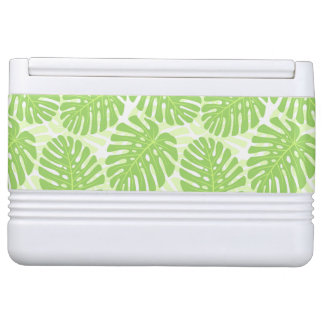 Leaves Of Tropical Plant - Monstera Pattern Igloo Cooler