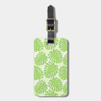 Leaves Of Tropical Plant - Monstera Pattern Luggage Tag