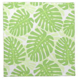 Leaves Of Tropical Plant - Monstera Pattern Napkin