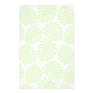 Leaves Of Tropical Plant - Monstera Pattern Custom Stationery