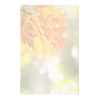 Leaves on the branches in the autumn forest customized stationery