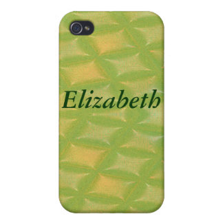 Leaves or Diamonds? Green and Yellow Abstract iPhone 4/4S Covers