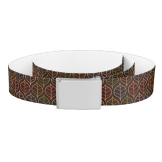 Leaves pattern belt