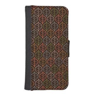 Leaves pattern iPhone SE/5/5s wallet case