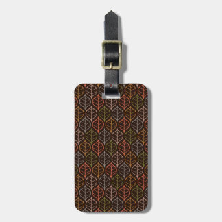 Leaves pattern luggage tag