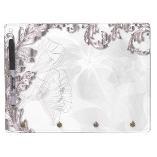 Leaves & Poppies - Sliver & White Eraser Board