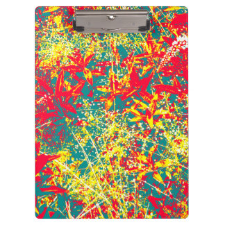 leaves red green yellow and white clipboard