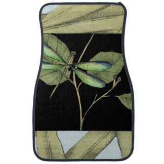 Leaves with Dragonfly Inset by Jennifer Goldberger Car Mat