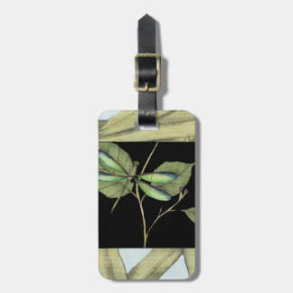 Leaves with Dragonfly Inset by Jennifer Goldberger Luggage Tag