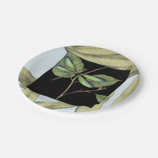 Leaves with Dragonfly Inset by Jennifer Goldberger Paper Plate