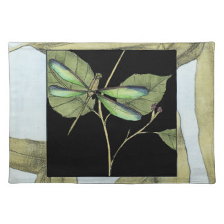 Leaves with Dragonfly Inset by Jennifer Goldberger Placemat