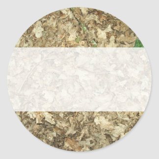 Leaves. Woodland floor. Leafy ground. Classic Round Sticker
