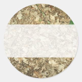 Leaves. Woodland floor. Leafy ground. Round Sticker