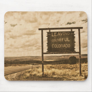 leaving colorful colorado sign mouse pads