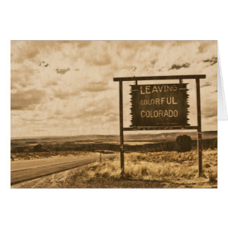 leaving colorful colorado stationery note card
