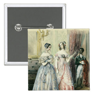 Leaving for the Ball, 1830-48 15 Cm Square Badge