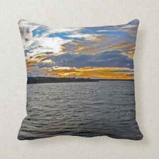 Leaving Oak Bluffs ~ West Chop Pillow