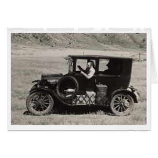 Leaving South Dakota Vintage Photo Card