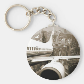 Leaving The City Basic Round Button Key Ring