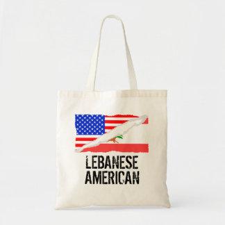 Lebanese American Flag Budget Tote Bag