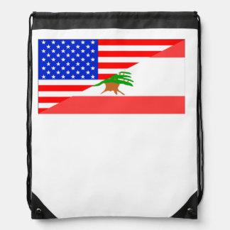 Lebanese American Flag Rucksack