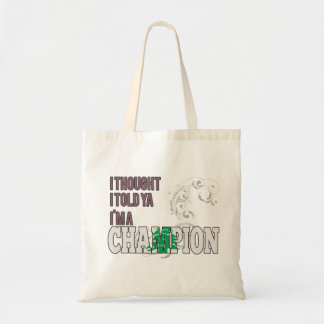 Lebanese and a Champion Tote Bags