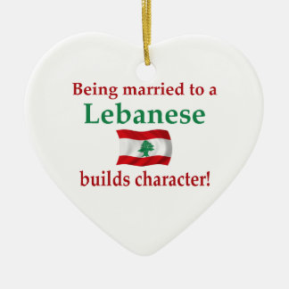 Lebanese Builds Character Christmas Ornament