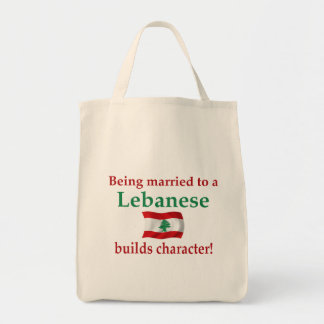 Lebanese Builds Character Grocery Tote Bag