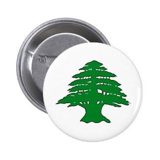 Lebanese Cedar 6 Cm Round Badge