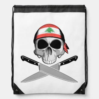 Lebanese Chef Drawstring Backpacks