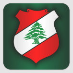 Lebanese Coat of Arms Square Sticker
