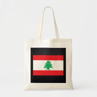 Lebanese flag budget tote bag