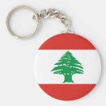 Lebanese Flag Key Chain
