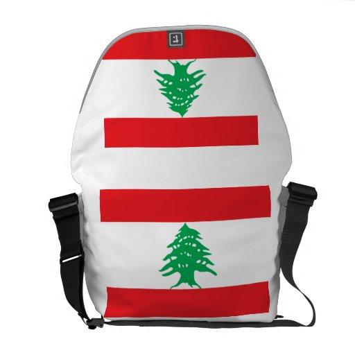 Lebanese Flag Messenger Bag