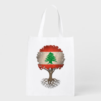 Lebanese Flag Tree of Life Customizable