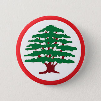Lebanese Forces Party 6 Cm Round Badge