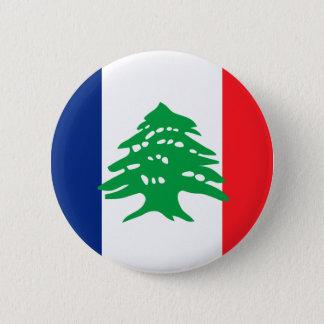 Lebanese French, Lebanon 6 Cm Round Badge